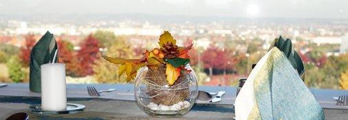 Panorama-Restaurant mit herrlichem Blick auf Dresden